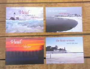 urker spreukenkerstkaarten de vier ontwerpen